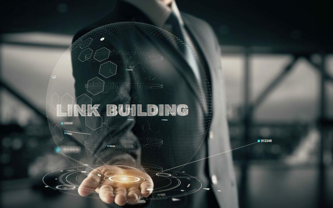 man holding computer showing backlinks
