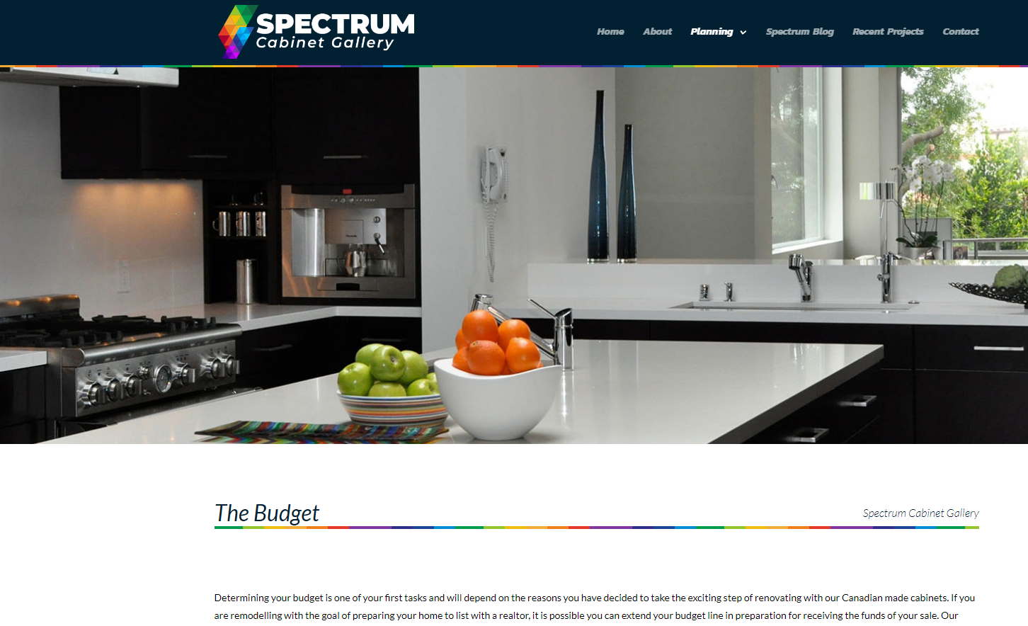 Case Study - Spectrum Cabinets - The Strategy