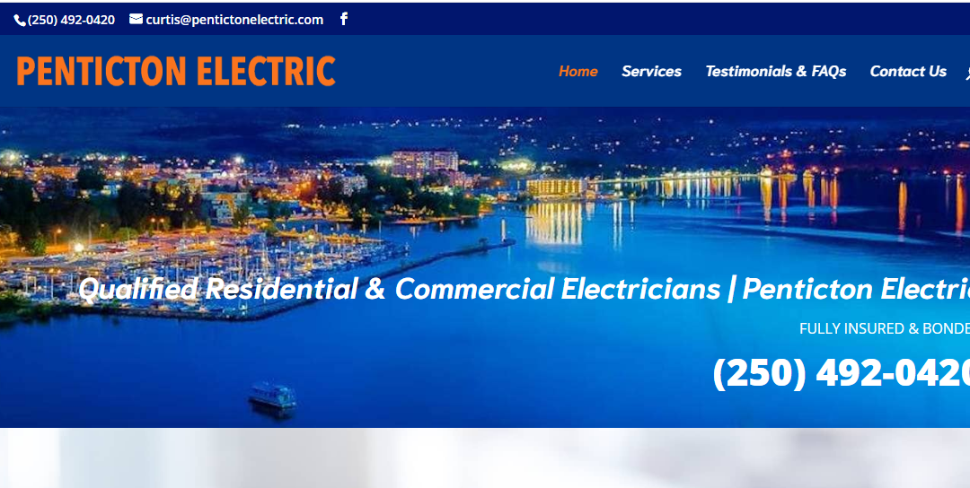 Penticton Electric Lights Up With A New Website