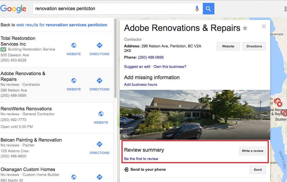 google biz reviews